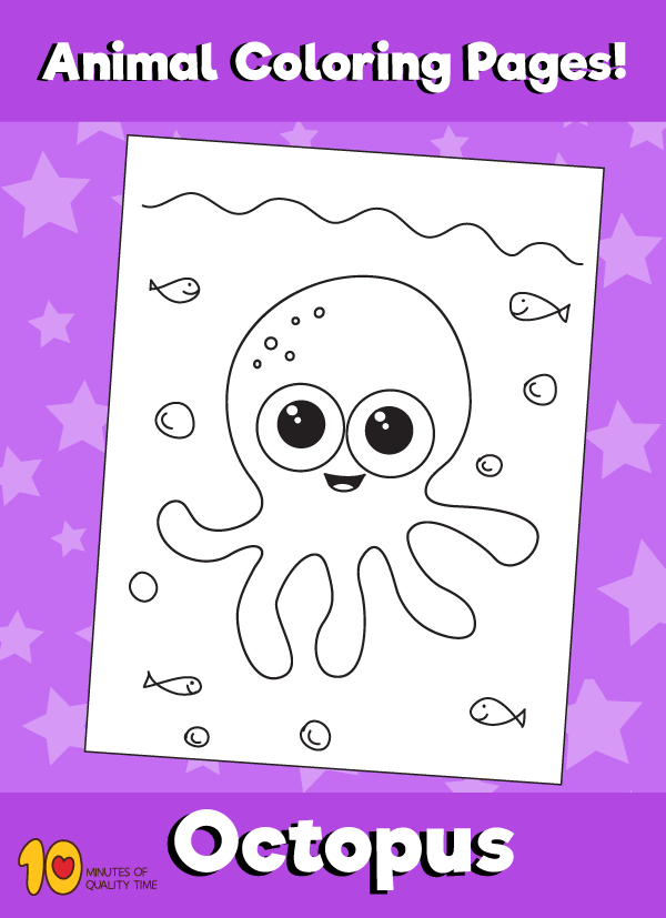 Octopus Coloring Page Animal Coloring Pages 10 Minutes Of