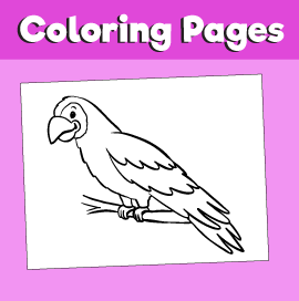 Parrot-animal-coloring-pages-