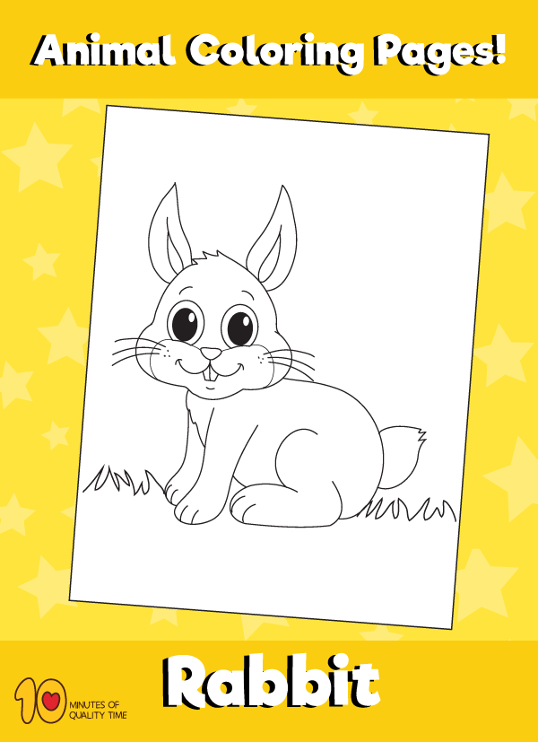 Rabbit-animal-coloring-pages-