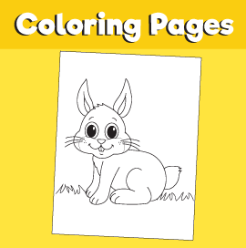 Rabbit-animal-coloring-pages