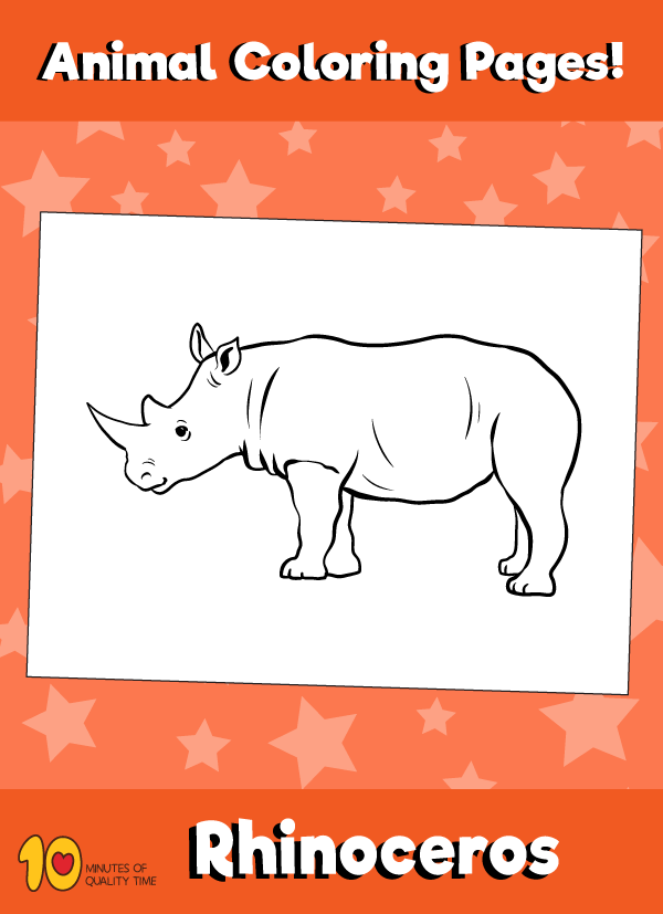 rhinoceros animal coloring pages