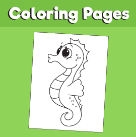 Seahorse-animal-coloring-pages-