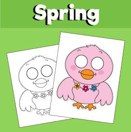 Spring Bird Paper Mask