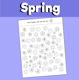 Spring Flower Search Game