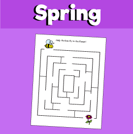 Spring Maze - Bee to Flower