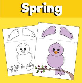 Spring Peekaboo Game - Bird