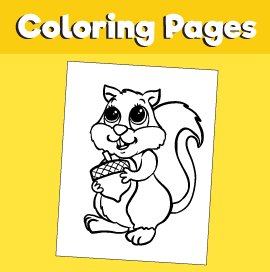 Squirrel-animal-coloring-pages