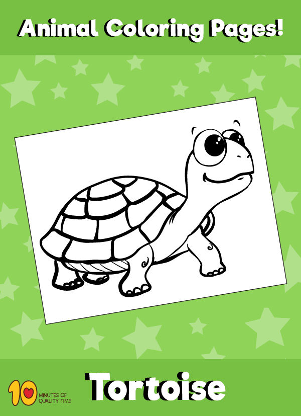 Tortoise 2 Coloring Page – Animal Coloring Pages – 10 Minutes of ...