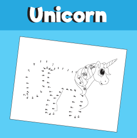 Unicorn Dot to Dot