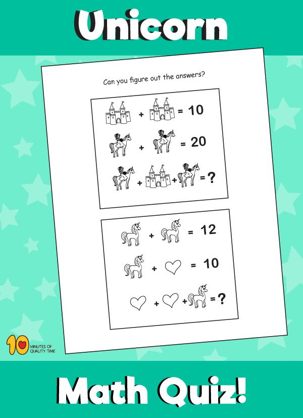Unicorn Math Quiz