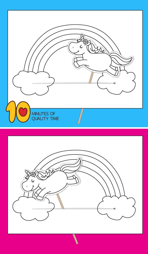Unicorn and Rainbow Printable