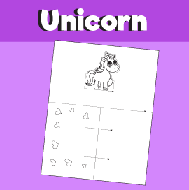 Unicorn Pop-up Card