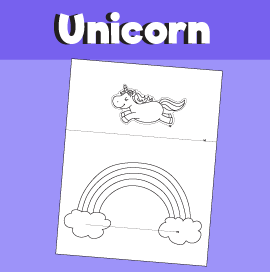 Unicorn Jumping Over the Rainbow