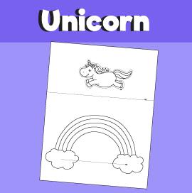 Unicorn Jumping Over the Rainbow