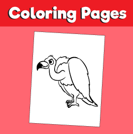 Vulture-animal-coloring-pages