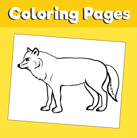 Wolf-animal-coloring-pages