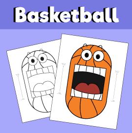 Surprised Basketball Folding Activity