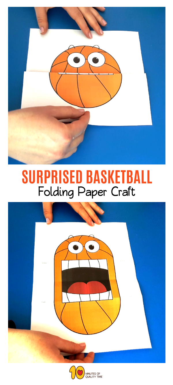 Surprised Basketball Folding Activity