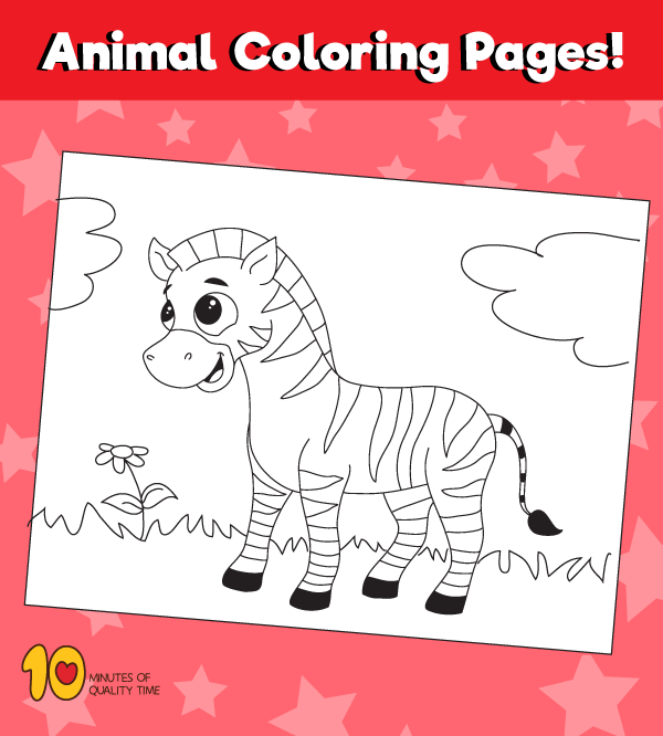 Zebra Coloring Page Animal Coloring Pages 10 Minutes Of Quality Time
