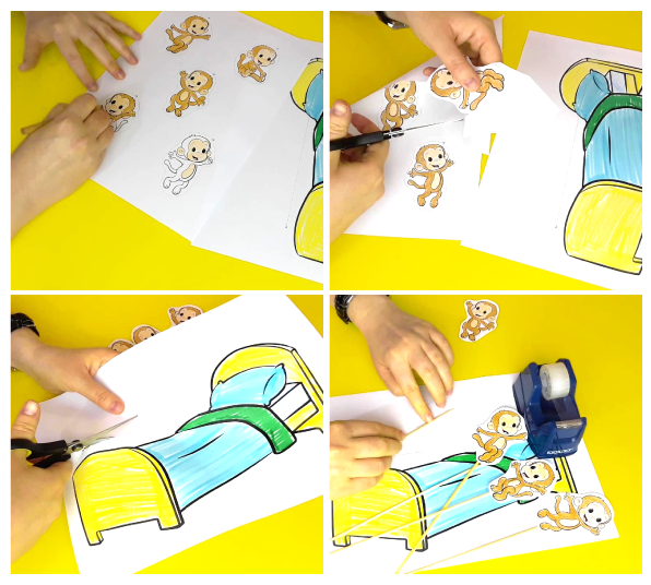 Nursery Rhymes - 5 Little Monkeys Printable Game