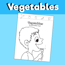 Child Eating Vegetables - Paper Craft