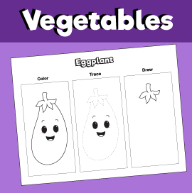 Color, Trace and Draw an Eggplant