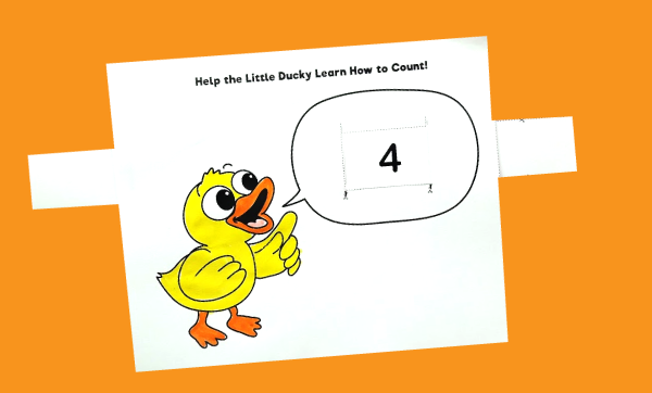 Duck Printable Game - Learning to Count
