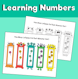 Counting Game Printable