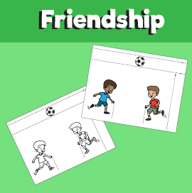 Kids Playing Soccer - Paper Activity