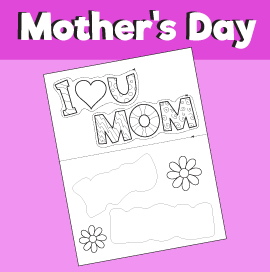 Mother's Day - Color, Cut & paste