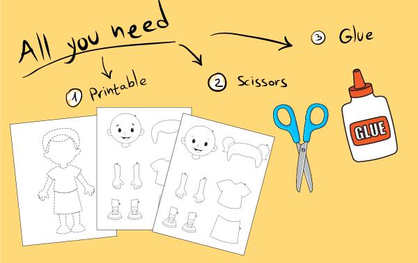 Human Body Worksheet for Kids