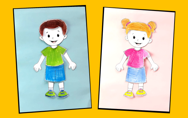 Human Body Worksheet for Children