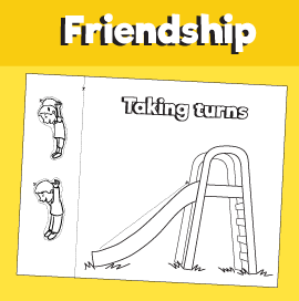 Taking Turns in the Playground - Paper Craft
