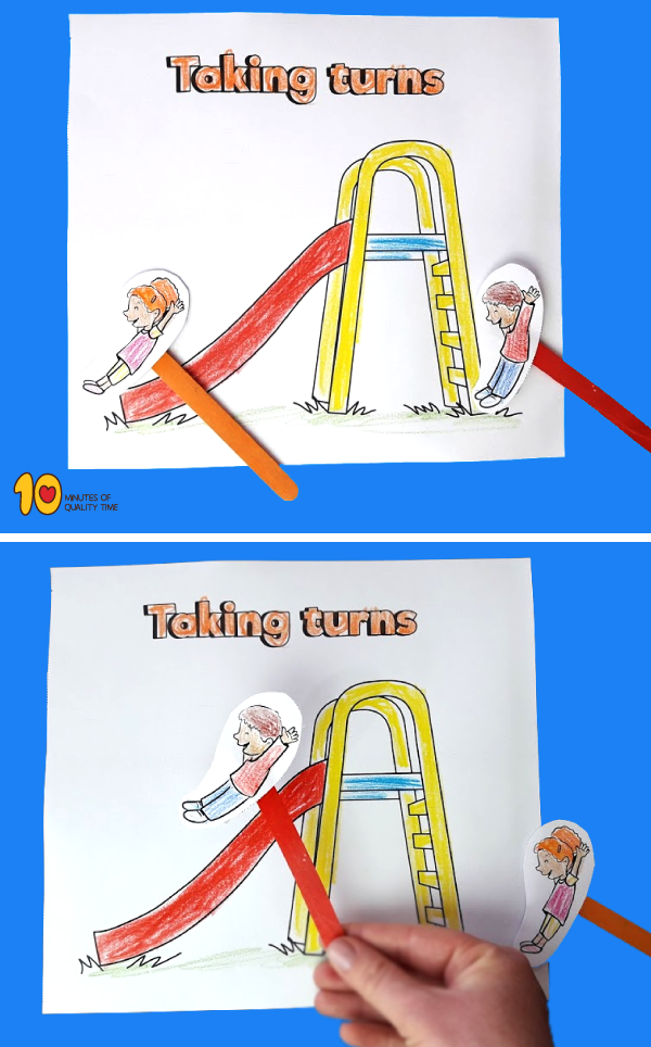 Taking Turns in the Playground - Paper Craft‏