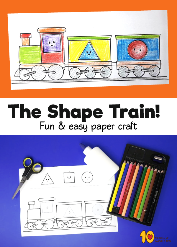 The Shape Train - Shapes Worksheets