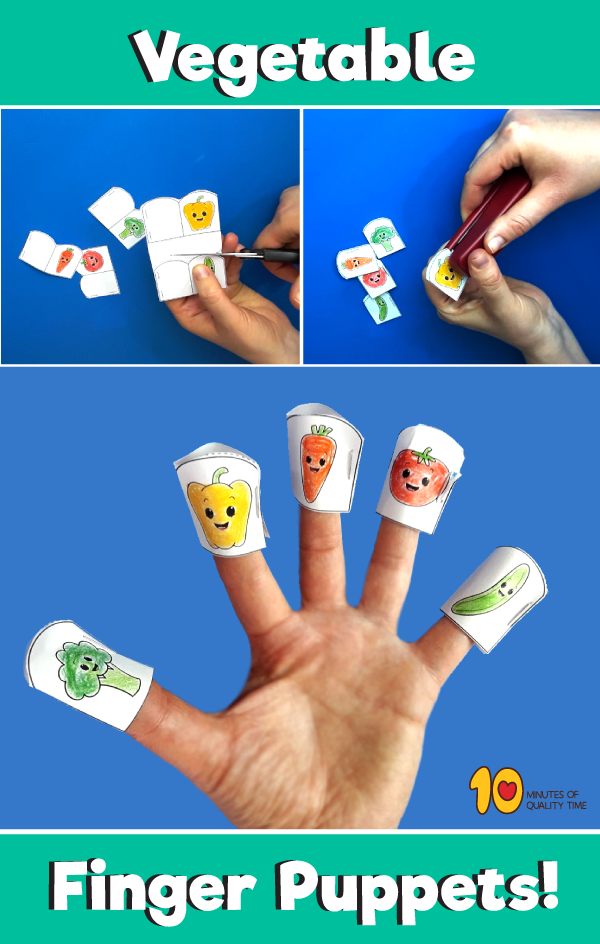 Vegetable Finger Puppets