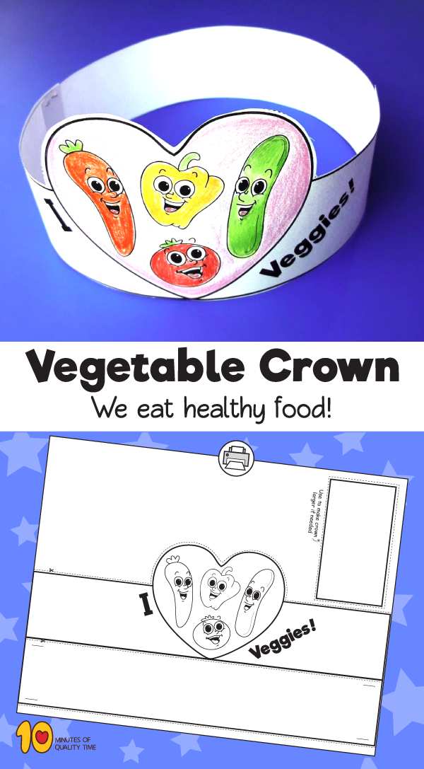 Vegetable Paper Crown 10 Minutes Of Quality Time