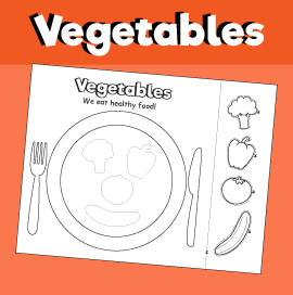 Vegetable Plate - Cut & Paste