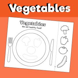 Vegetable Plate - Cut & Paste