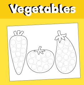 Vegetables Do a Dot Printable