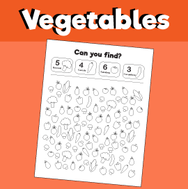 Vegetables-Search-Game