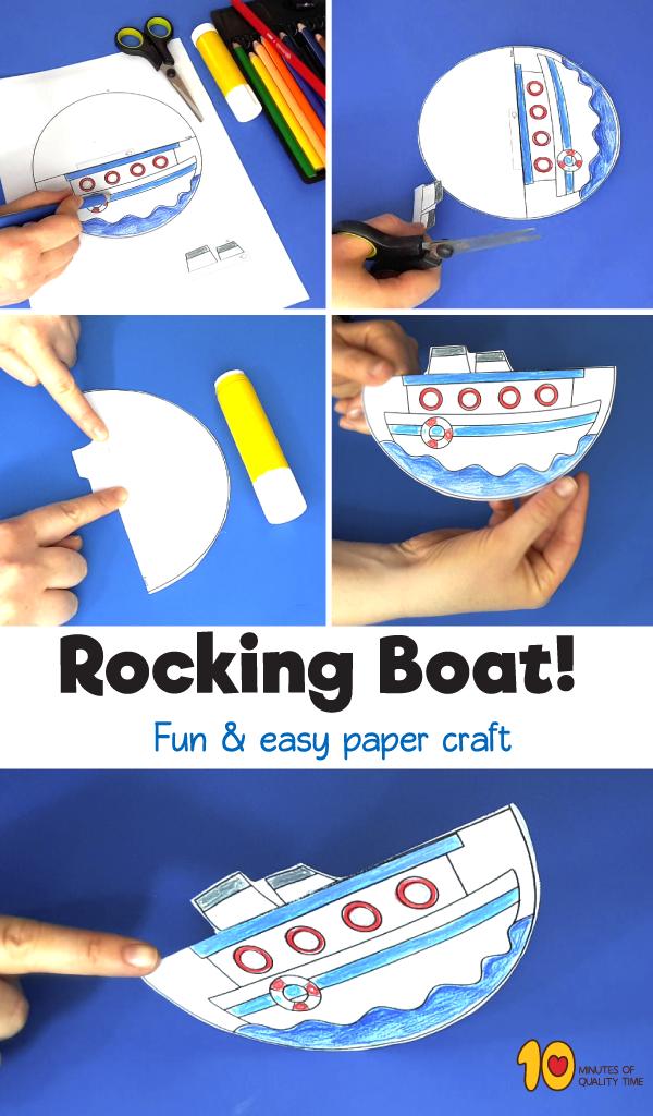 rocking boat paper craft