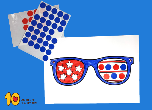 4th of July - 8 Dot Activity Printables