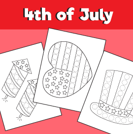 4th of July Dot Activity
