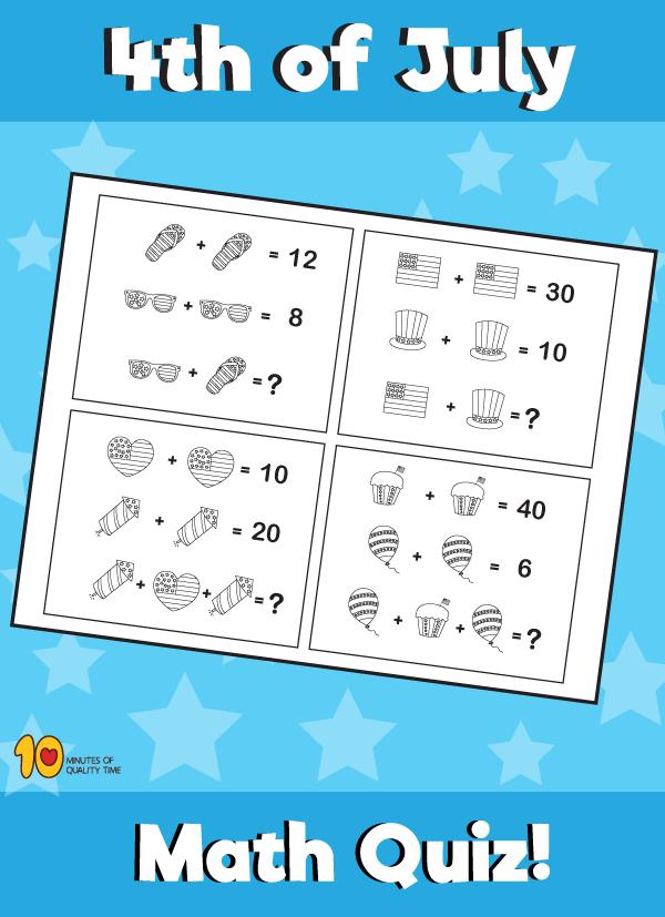 4th of July Fun Math Quiz