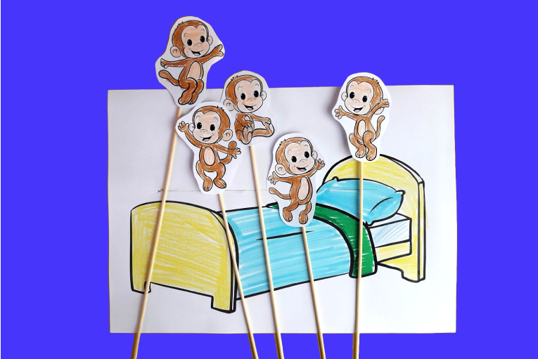 5 Little Monkeys Printable Game 10 Minutes Of Quality Time