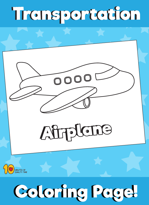 Airplane Coloring Page