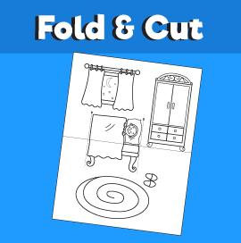 Boy Going to Sleep - Fold and Cut