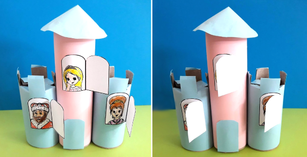 Castle With Opening Windows - Paper Roll Craft
