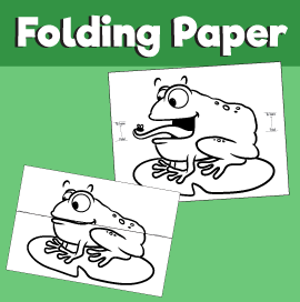 Frog Eating Fly Surprise Folding Paper